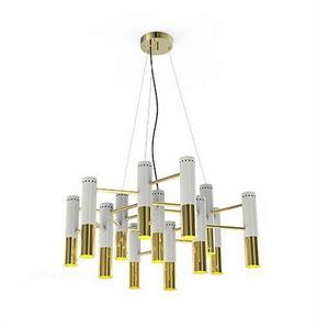 Люстра Ike 13 Lamp  Белый+Золотой