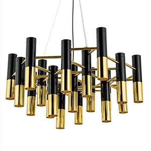Люстра Ike 22 Lamp Черный + Золотой