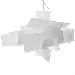 Люстра потолочная, подвесная Big Bang Д 91 см/Ш 91 см/В 64 см Белый