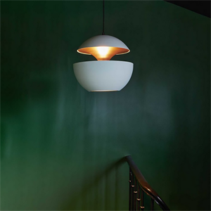 Светильник подвесной Lampe Here Comes The Sun Диаметр 35 см / Высота 33 см Белый + Белый