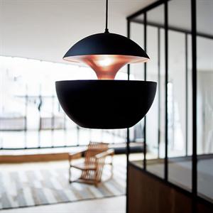 Светильник подвесной Lampe Here Comes The Sun Диаметр 35 см / Высота 33 см Черный + Золотой