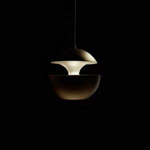 Светильник подвесной Lampe Here Comes The Sun Диаметр 25 см / Высота 24 см Черный + Белый