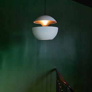 Светильник подвесной Lampe Here Comes The Sun Диаметр 25 см / Высота 24 см Белый + Белый