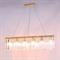 Подвесной светильник New York, Gold Clear crystal L90*8*H21.5/221.5 cm - фото 10185