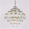 Люстра Los Angeles, Polished champagne gold Clear crystal D60*H56/156 cm - фото 10289