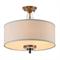 Потолочный светильник Memphis, Black brass Clear crystal Shade beige D70*H43,5 cm - фото 10660