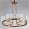 Потолочный светильник Cleveland, French gold White matt glass D64*H20 cm - фото 10890