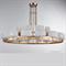 Люстра Cleveland, French gold White matt glass D115*H50 cm - фото 10894
