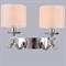 Бра Dallas, Nickel Clear crystal Shade beige L40*H29*Sp25 см - фото 24405