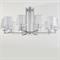 Люстра Reno, Chrome Glass clear/matt white D96*H45 cm - фото 25204