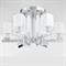 Потолочный светильник Plano, Nickel Glass clear/matt white D72*H42 cm - фото 25433